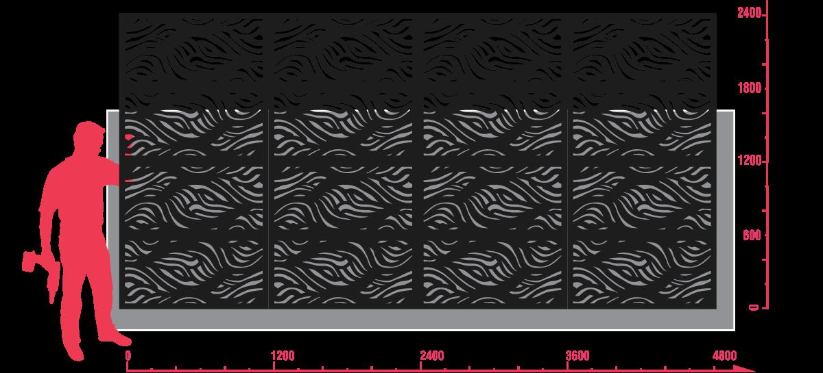 Wooloomai Lasercut Screen