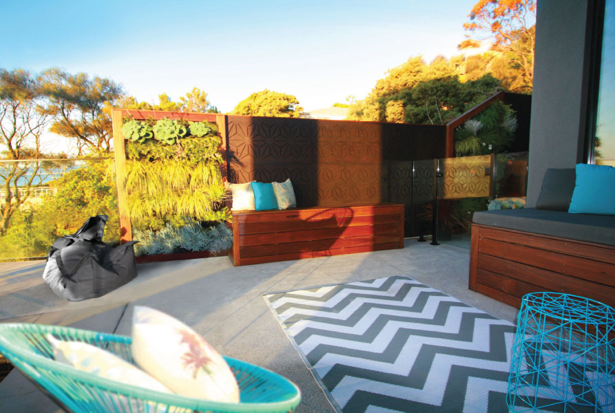 STAR ANAIS 90%+ High Privacy; creates a great a great poolside walling effect with bench-seat